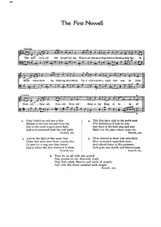 The First Nowell (The First Noël): For choir (C Major) by folklore