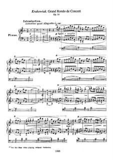 Rondo à la Krakowiak, Op.14: Para Piano by Frédéric Chopin