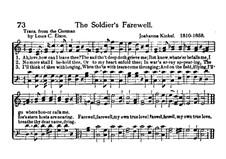 Soldier's Farewell: em C maior by Johanna Kinkel