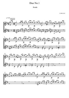 Six Little Duets for Two Guitars, Op.34: Duet No.1, Rondo by Ferdinando Carulli