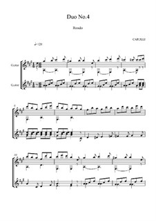 Six Little Duets for Two Guitars, Op.34: Duet No.4, Rondo by Ferdinando Carulli
