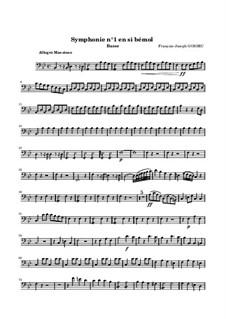 Symphony No.1 in B Flat Major: parte violoncelo by François Joseph Gossec