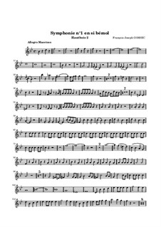 Symphony No.1 in B Flat Major: Oboe parte II by François Joseph Gossec