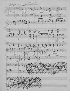 Sonata for Violin and Piano No.1 in F Major, Op.8: movimento II. Versão para piano de quatro mãos by Edvard Grieg