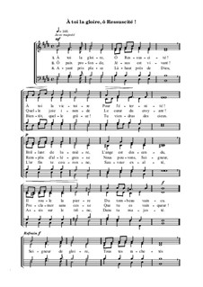 À toi la gloire, ô Ressuscité: À toi la gloire, ô Ressuscité by Georg Friedrich Händel