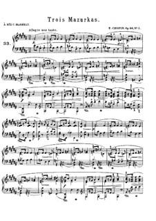 Mazurkas, Op.56: set completo by Frédéric Chopin