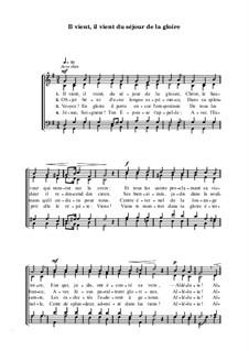 Il vient, il vient du séjour de la gloire: Il vient, il vient du séjour de la gloire by Joseph Haydn