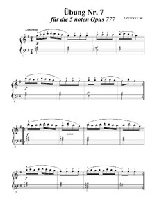 Twenty-Four Exercises, Op.777: Exercise No.7 by Carl Czerny