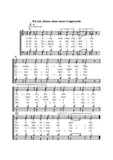 En toi, Jésus, mon coeur s'approche: En toi, Jésus, mon coeur s'approche by Henri Abraham Caesar Malan