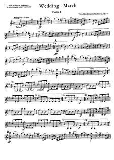 Wedding March: parte de cordas by Felix Mendelssohn-Bartholdy