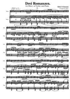 Three Romances for Oboe (or Violin) and Piano, Op.94: Romantica No.2 by Robert Schumann
