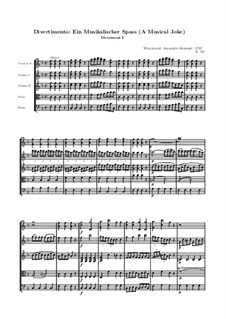 A Musical Joke, K.522: movimento I by Wolfgang Amadeus Mozart