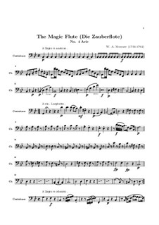 Oh, Tremble not, My Beloved Son: Parte contrabaixo by Wolfgang Amadeus Mozart