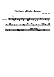 Stars and Stripes Forever : Euphonium part by John Philip Sousa