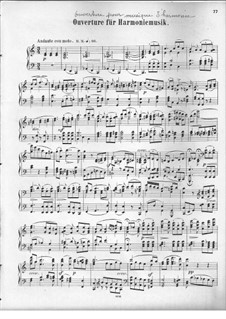 Overture for Wind Instruments, Op.24: versão para piano by Felix Mendelssohn-Bartholdy