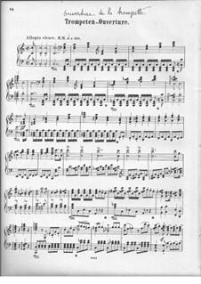 Trompeten-Ouvertüre (Trumpet Overture), Op.101: versão para piano by Felix Mendelssohn-Bartholdy