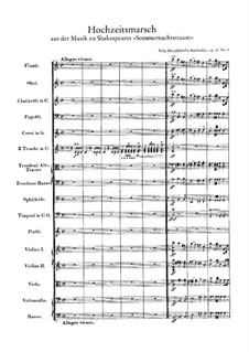 Wedding March: partitura completa by Felix Mendelssohn-Bartholdy