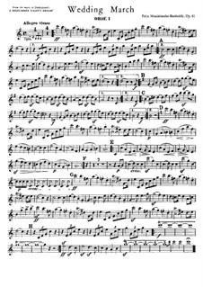 Wedding March: parte de oboes by Felix Mendelssohn-Bartholdy