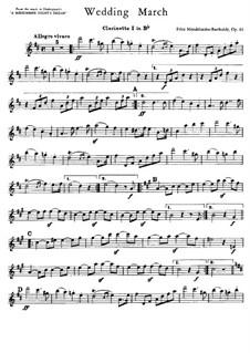 Wedding March: parte clarinetas by Felix Mendelssohn-Bartholdy