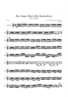 All Feel the Joys of Love: violino parte II by Wolfgang Amadeus Mozart