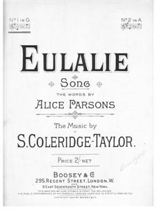 Eulalie: Eulalie by Samuel Coleridge-Taylor