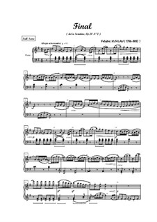Three Sonatinas for Piano, Op.20: Sonatina No.2. Movement III by Friedrich Kuhlau