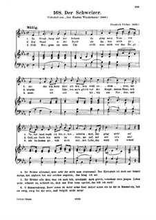 Der Schweizer: Partitura Piano-vocal by Friedrich Silcher