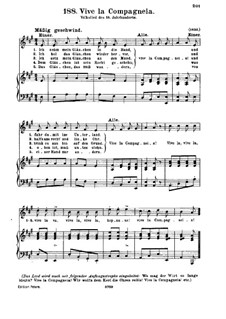 Vive la Compagneia: Para vocais e piano by folklore