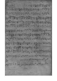 Trio Sonata for Violin, Flute (or Violin II) and Basso Continuo, TWV 42:A2: Partitura completa by Georg Philipp Telemann