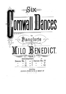 Six Cornwall Dances, Op.1: eletronica No.3 by Milo Ellsworth Benedict