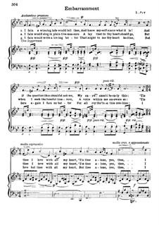 Embarrassment: Partitura Piano-vocal by Franz Wilhelm Abt