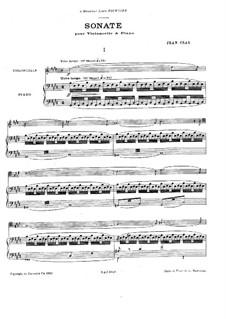 Sonata for Cello and Piano in E Major: Sonata for Cello and Piano in E Major by Jean Cras