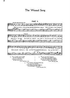 Here we Come a-Wassailing: Para vocais e piano by folklore
