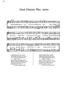 Good Christian Men, Rejoice: partituras de vocais by folklore
