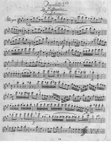 Quartet for Flute and Strings No.5 in A Major: Quartet for Flute and Strings No.5 in A Major by Franz Anton Hoffmeister