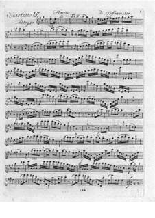 Quartet for Flute and Strings No.6 in A Major: Quartet for Flute and Strings No.6 in A Major by Franz Anton Hoffmeister
