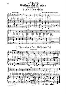 Christmas Songs: Christmas Songs by folklore, Friedrich Silcher, Michael Praetorius, Franz Xaver Gruber, Johann Abraham Schulz, Hans Georg Nägeli, Joachim Neander, Martin Luther, Gottlob Siegert
