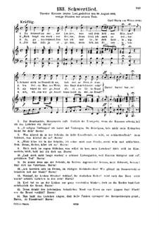 Schwertlied: Schwertlied by Carl Maria von Weber