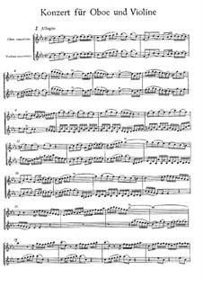Concerto for Violin, Oboe and Strings No.1 in C Minor, BWV 1060r: Oboe and violin solo parts by Johann Sebastian Bach