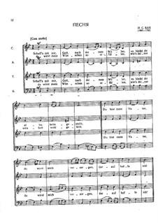 No.35 Schaff's mit mir, Gott, BWV 514: Partitura vocal by Johann Sebastian Bach