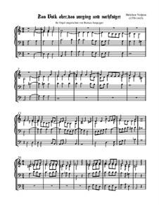 Das Volk aber, das vorging (Orgelfassung): Das Volk aber, das vorging (Orgelfassung) by Melchior Vulpius