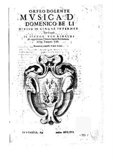 Orfeo dolente: Orfeo dolente by Domenico Belli