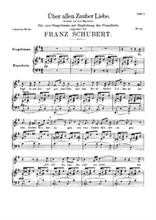 Love Above All Magic (Unfinished), D.682: Love Above All Magic (Unfinished) by Franz Schubert