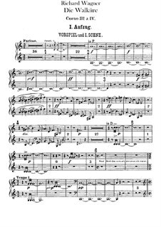 The Valkyrie , WWV 86b: French horns III, IV parts by Richard Wagner