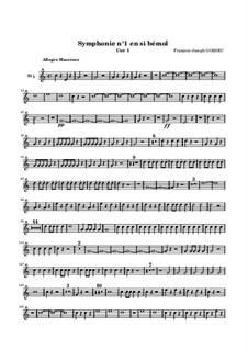 Symphony No.1 in B Flat Major: trompa parte I by François Joseph Gossec