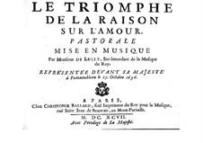 Le triomphe de l'amour, LWV 59: Pastorale by Jean-Baptiste Lully