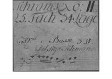 Trio Sonata for Two Violins and Basso Continuo, TWV 42:D12: Trio Sonata para dois violinos e baixo contínuo by Georg Philipp Telemann