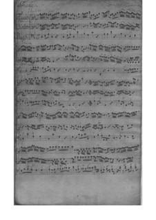 Trio Sonata for Violin, Flute (or Violin II) and Basso Continuo in D Minor, TWV 42:d2: Partitura completa by Georg Philipp Telemann