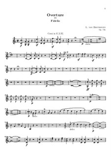 Overture: Horns I-II in E part by Ludwig van Beethoven