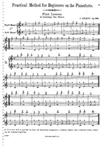 Practical Method for Beginners on the Pianoforte, Op.599: set completo by Carl Czerny